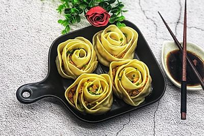 玫瑰虾仁饺子#春天肉菜这样吃#