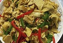 豆皮青椒的做法