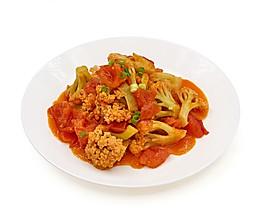 番茄炒花菜的做法