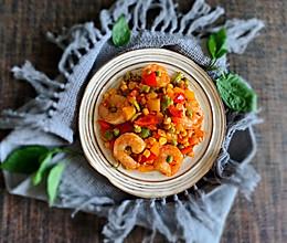 食锦虾仁炒彩椒的做法