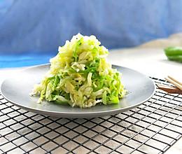 青椒炒牛心菜丝(开胃低脂减肥美食)的做法