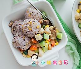 12个月以上辅食鸡胸肉杂蔬丁套餐的做法