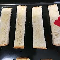 #带着零食去旅行!#香烤杏仁片土司条的做法图解3