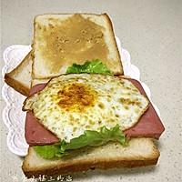 煎蛋火腿三明治的做法图解9