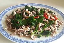 墨鱼炒韭菜的做法