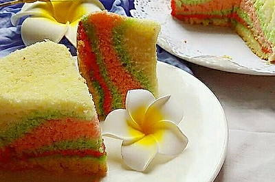 简易彩虹蛋糕