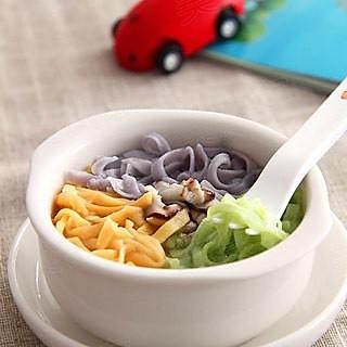 宝宝餐之三色骨汤面的做法