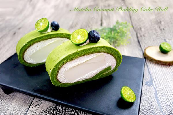 蛋糕卷的华丽进阶-抹茶椰奶冻蛋糕卷的做法
