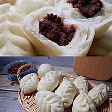 松软豆沙包❗️奶香麦穗红豆包(一次发酵)