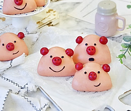 小猪饼夹,卡通面食#年味十足的中式面点#的做法