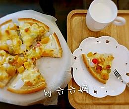 爱心早餐-懒人版水果披萨的做法