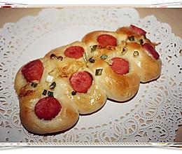 葱香火腿面包的做法