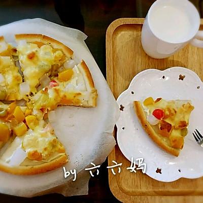 爱心早餐-懒人版水果披萨