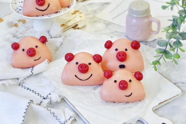 小猪饼夹,卡通面食的做法