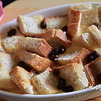 快手早餐--蜜豆吐司布丁的做法图解4