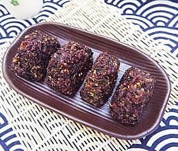 肉松紫米饭团的做法