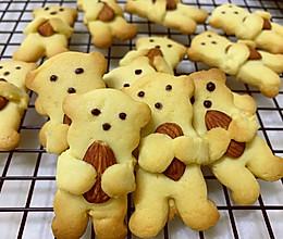 #仙女们的私藏鲜法大PK#小熊杏仁曲奇饼干的做法