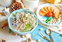 海鲜菇豆腐汤面~宝宝辅食的做法