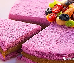 紫薯板栗松糕 宝宝辅食食谱的做法
