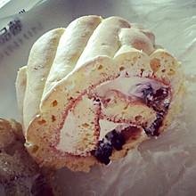 黑加仑海绵蛋糕卷