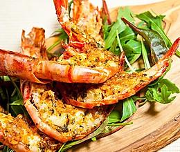 蒜香黄油烤大虾的做法