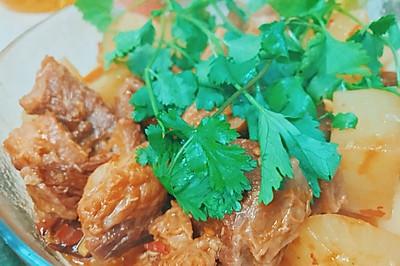 萝卜烧牛肉