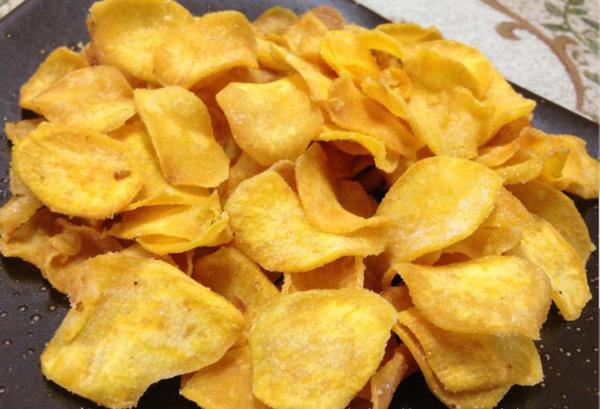 低脂健康:免油炸烤红薯片/烤箱版香脆地瓜干