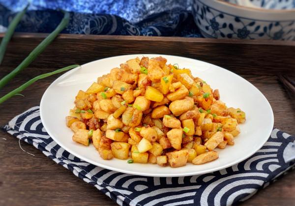 爆香土豆鸡丁的做法