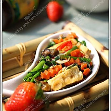 韭菜蚝油烧豆腐