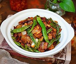 豆瓣青椒炒肉的做法