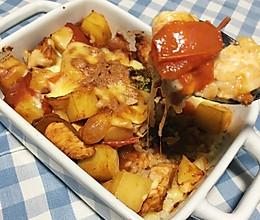 茄汁鸡胸肉芝士焗饭的做法
