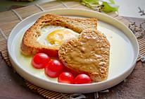 #硬核菜谱制作人# 花生酱黑糖桂花全麦吐司蛋的做法