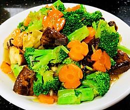 素炒香菇西兰花的做法