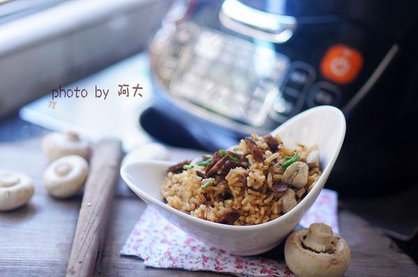 蘑菇牛肉焖饭