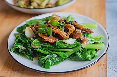 豆豉鲮鱼小白菜