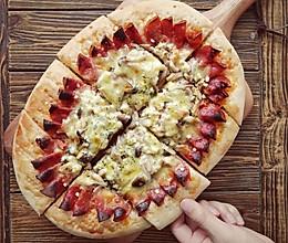 花边鸡肉蘑菇披萨的做法