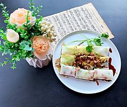 #仙女们的私藏鲜法大PK#广式虾仁韭黄肠粉的做法
