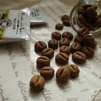 咖啡豆造型餅乾