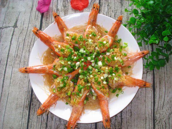 河北蒜蓉粉丝蒸大虾的做法