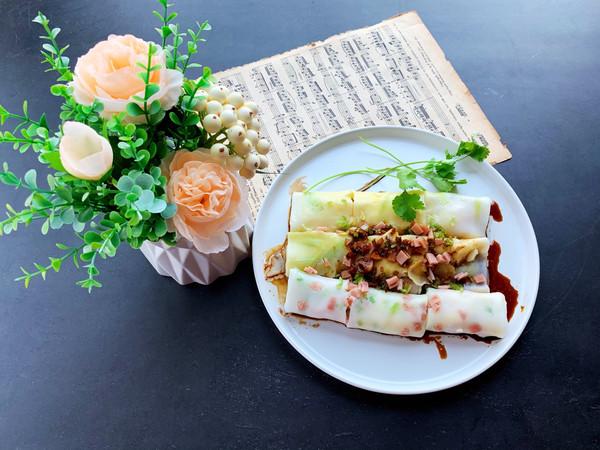 广式虾仁韭黄肠粉的做法