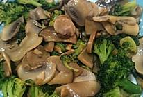 口蘑炒西兰花的做法