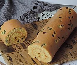 #换着花样吃早餐#香葱紫菜肉松卷的做法
