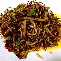 干煸茶树菇的做法图解6
