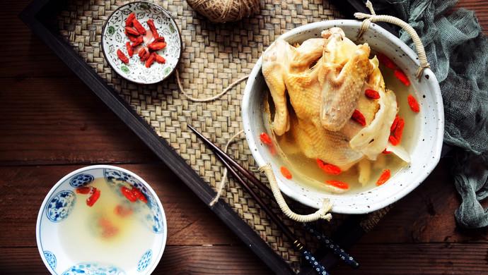 天麻炖鸡汤(缓解头痛、神经衰弱)