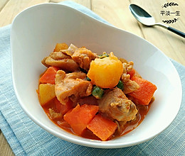 泰式红咖喱鸡的做法