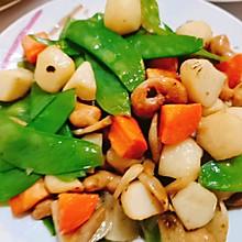 家常菜-色彩缤纷的荷兰豆马蹄炒腰果