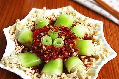 莴笋金针菇卷