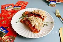 #钟于经典传统味#鸿运当头 柠香蒜茸焗烤龙虾尾的做法