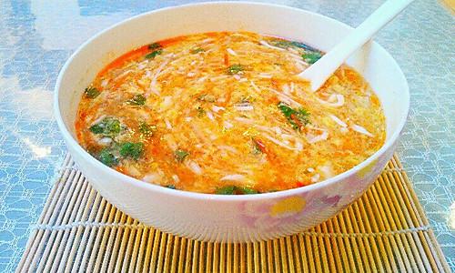 酸辣汤(简单食材)的做法
