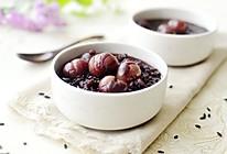 紫米桂圆粥的做法